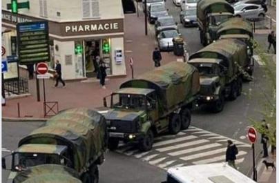 Προσοχή: Η πομπή στρατιωτικών οχημάτων στην Ιταλία που μεταφέρει σορούς είναι ψέμα